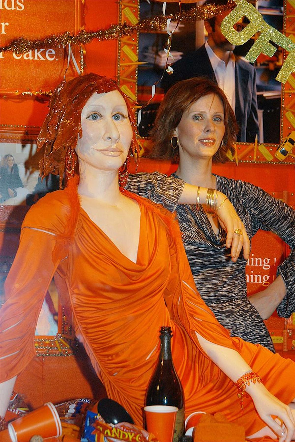 "Cynthia Nixon, Miranda on ""Sex and the City,"" is at Barneys"