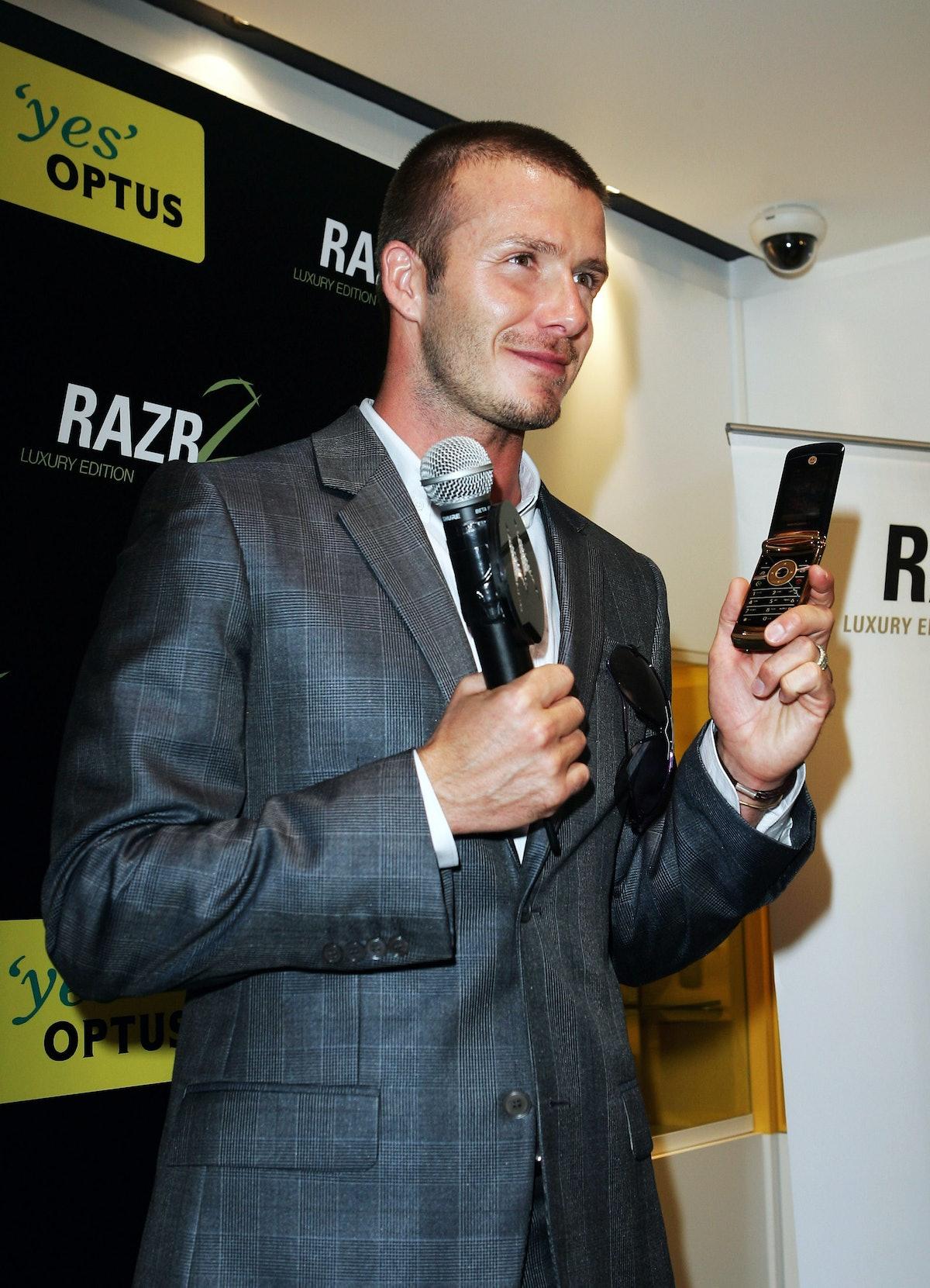David Beckham Photo Call & Motorola Launch