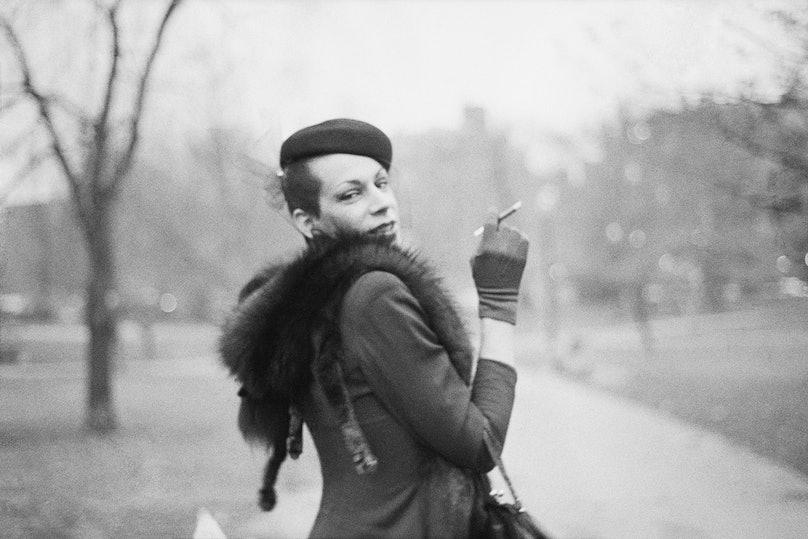 Ivy on the way to Newbury St., Boston Garden, Boston, 1973.jpg