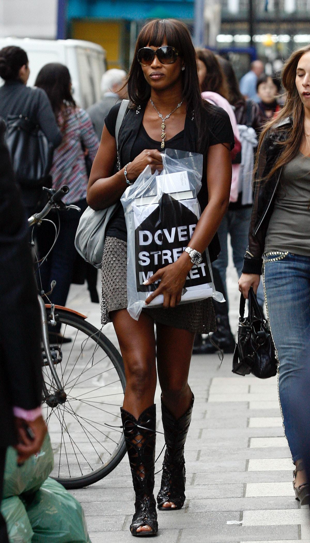 Naomi Campbell Sighting in London - September 21, 2009