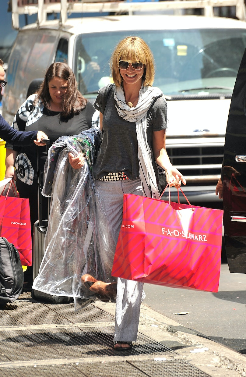 Celebrity Sightings In New York City - July 12, 2010