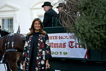 White House Christmas Tree Presented To Melania Trump
