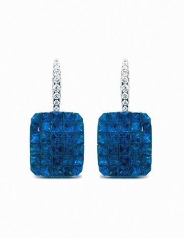 04_Nicole Rose Jewelry Sapphire and Diamond Hanging Earrings.JPG