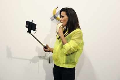 """Maurizio Cattelan's """"Comedian"""" On View At Art Basel Miami 2019"""