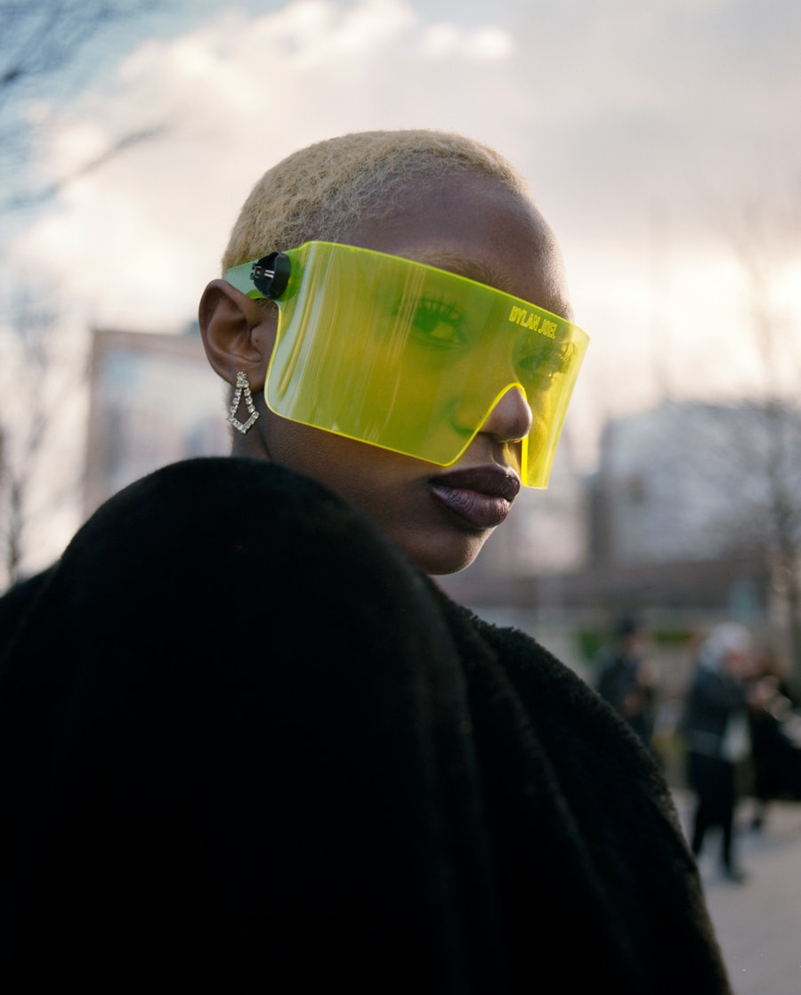A person at London Fashion Week