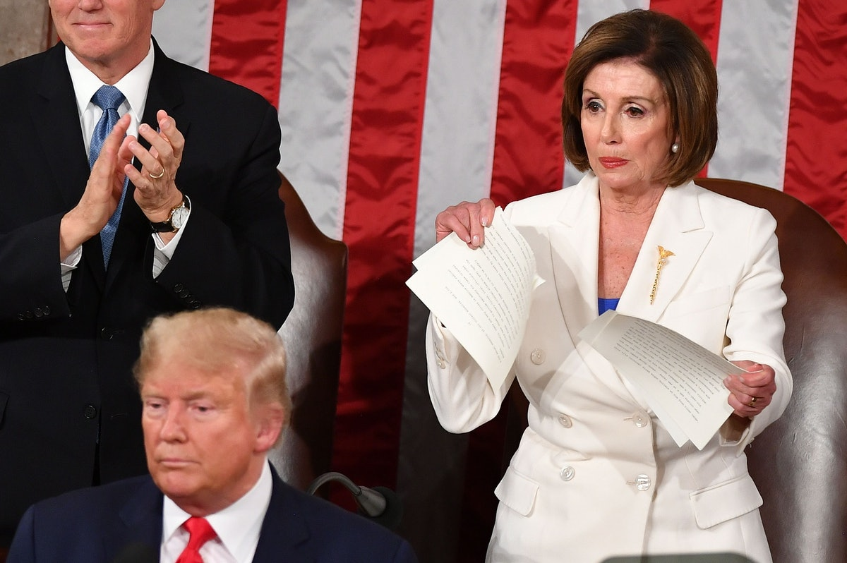 Nancy Pelosi ripping up the State of the Union