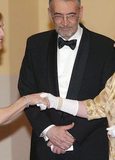Madonna meets Queen Elizabeth II.