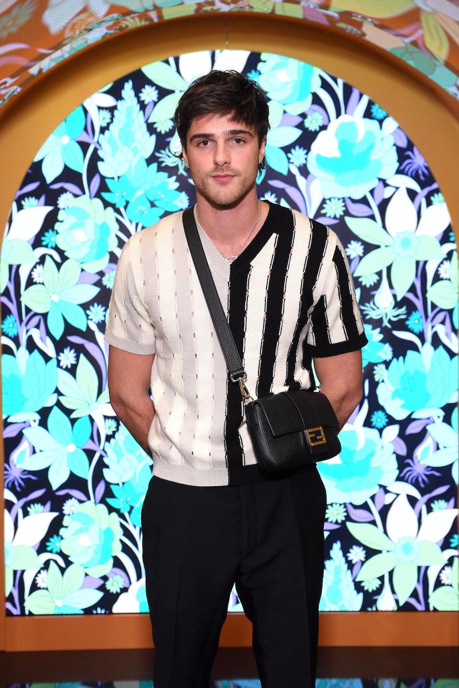 Jacob Elordi with a Fendi bag.