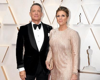 Tom Hanks and Rita Wilson on red carpet.