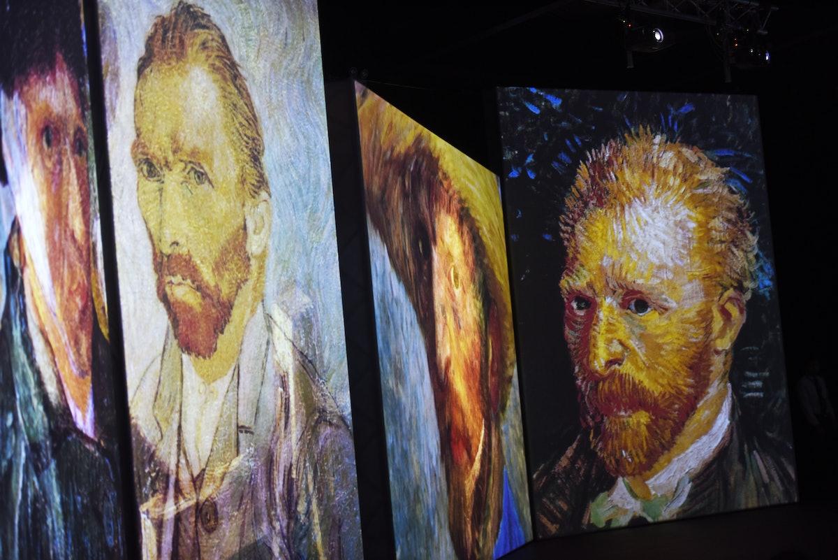 Various VIncent Van Gogh self-portraits.