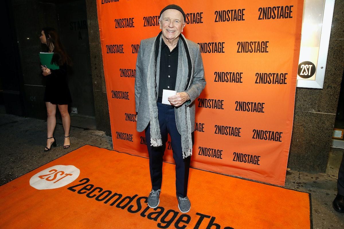 Terrence McNally on an orange carpet.