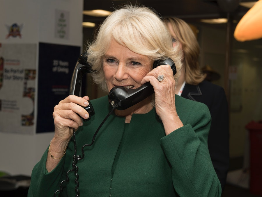 Camilla Parker Bowles on the phone