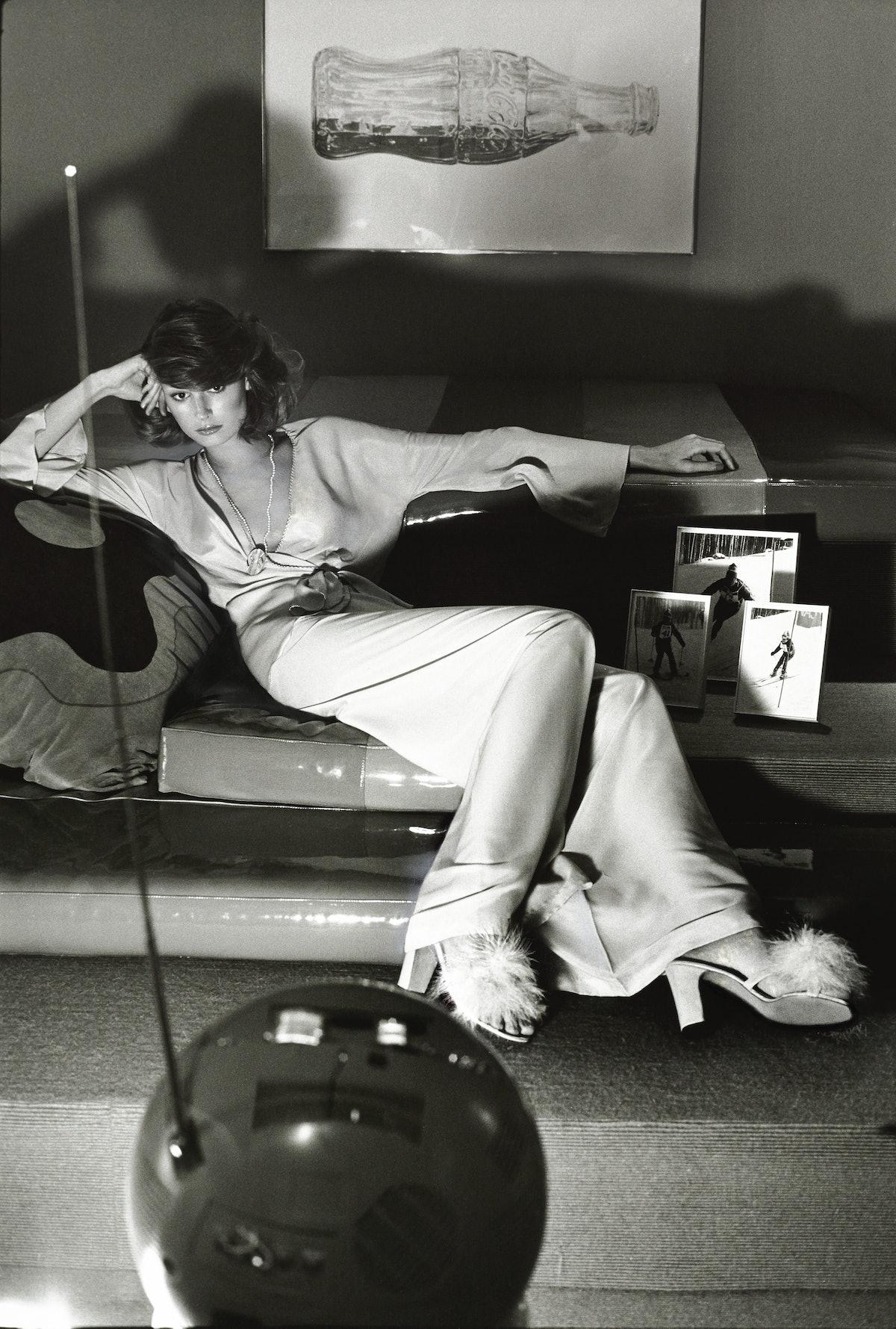 Vintage Woman Watching TV