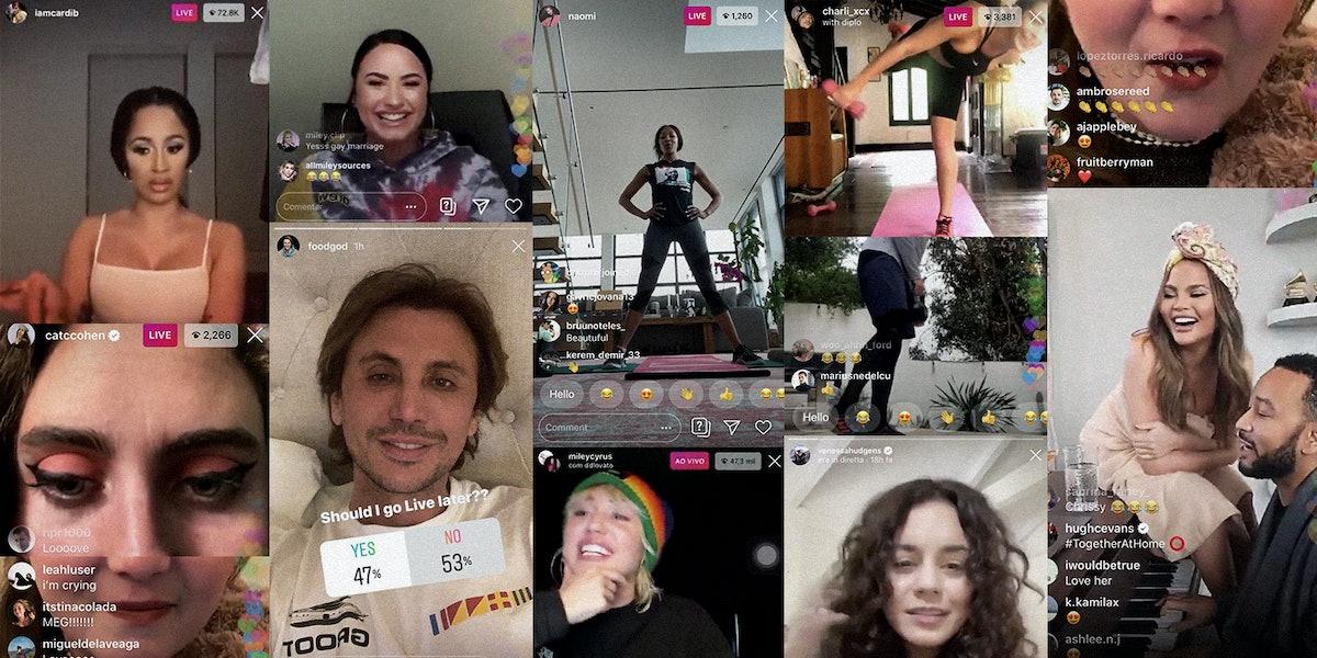 Celebrities on Instagram Live