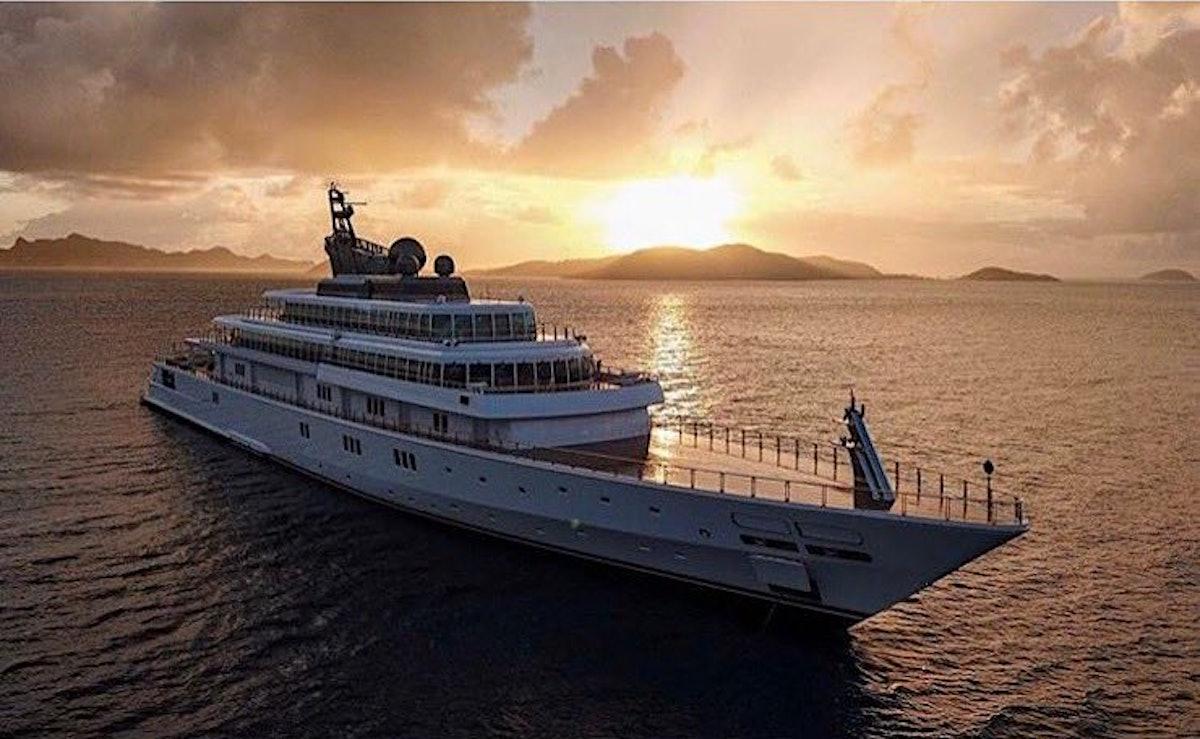 David Geffen's Instagram of his yacht