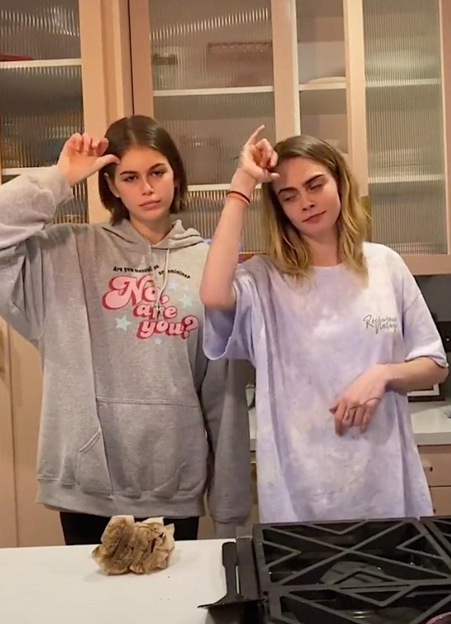 Kaia Gerber and Cara Delevinge