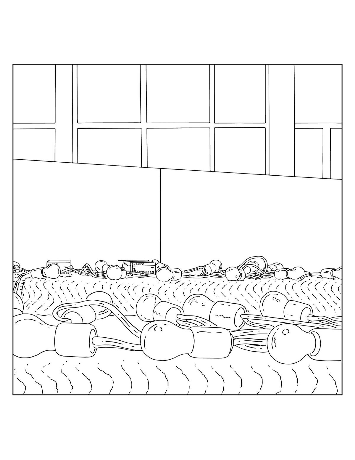 A page from a Louis Lawler coloring book