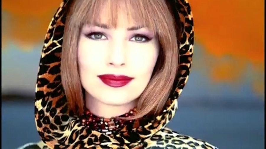 Shania Twain in a leopard hood.