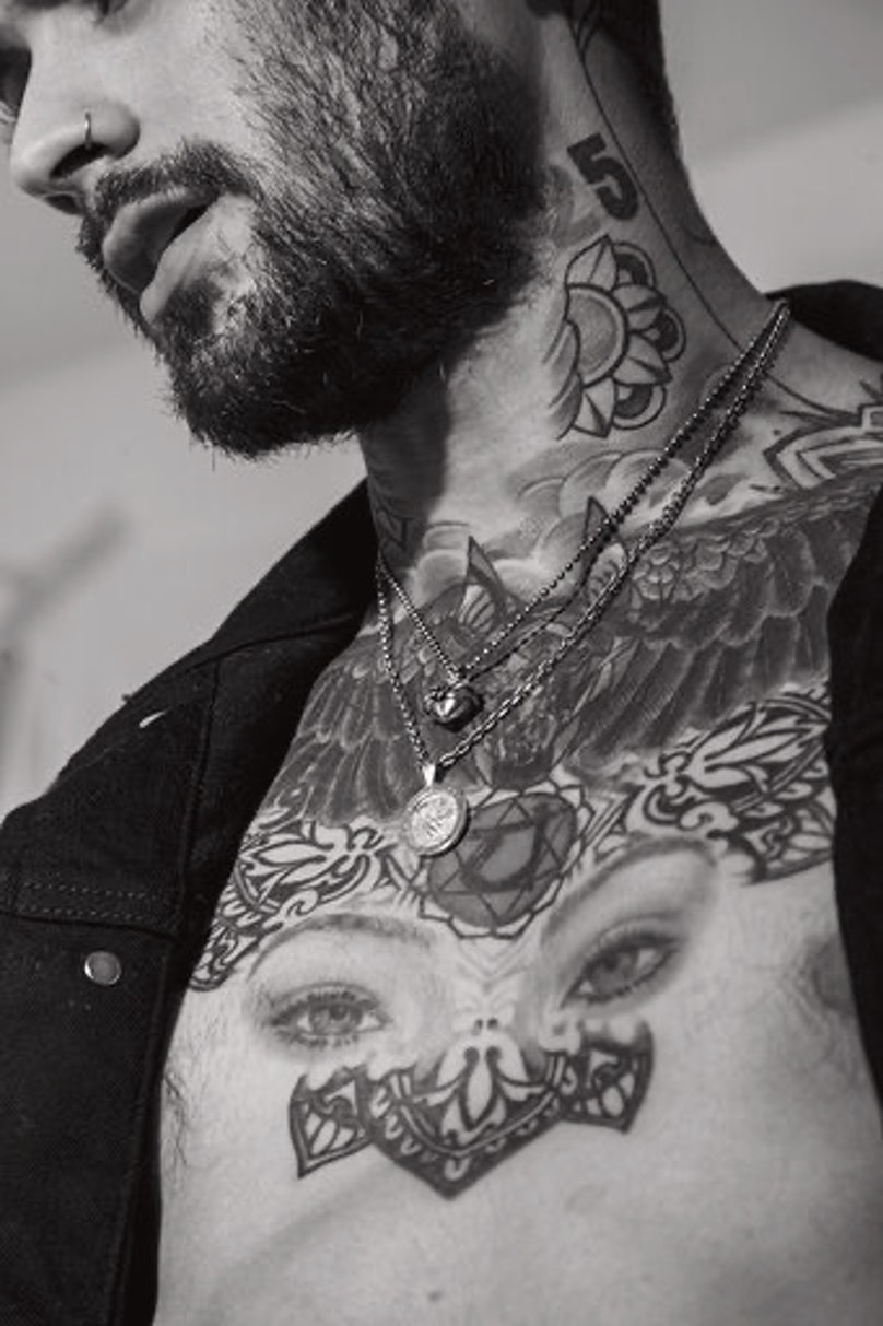 Zayn Malik's chest