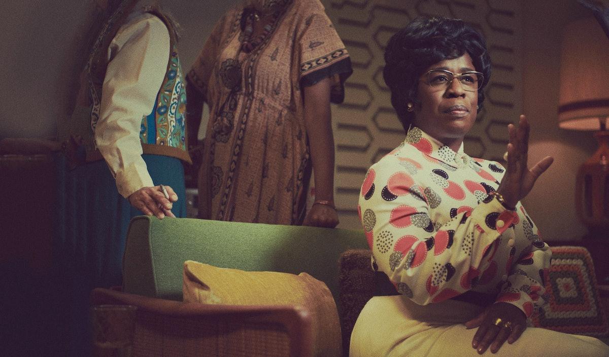 MRS. AMERICA — Pictured: Uzo Aduba as Shirley Chisholm. CR: Pari Dukovic/FX