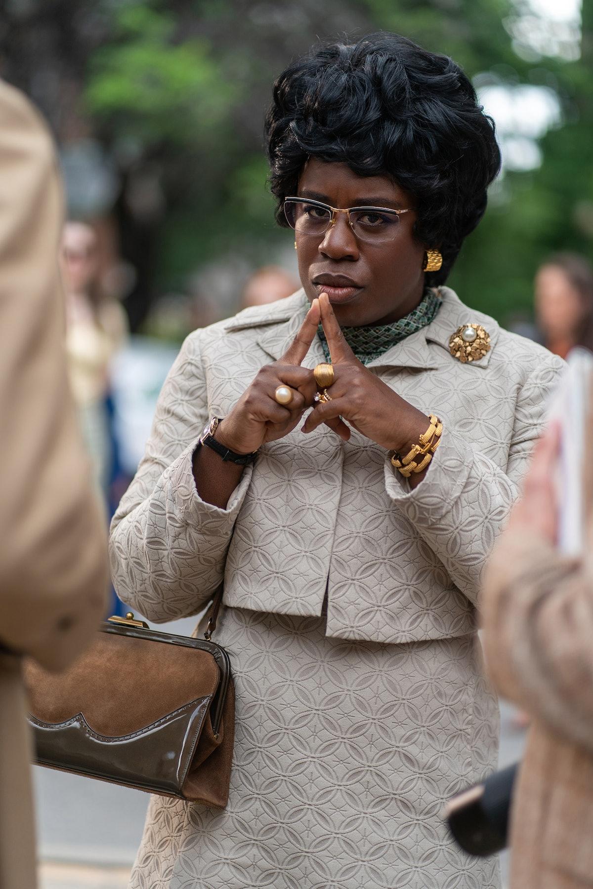 MRS. AMERICA — Pictured:  Uzo Aduba as Shirley Chisholm. CR: Sabrina Lantos/FX