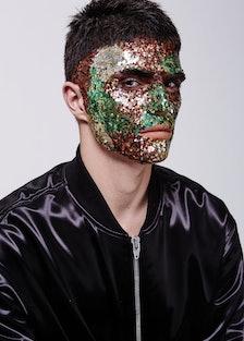 Interview Russia glitter facial