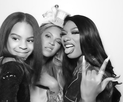 blue ivy beyonce megan thee stallion new years eve photo booth