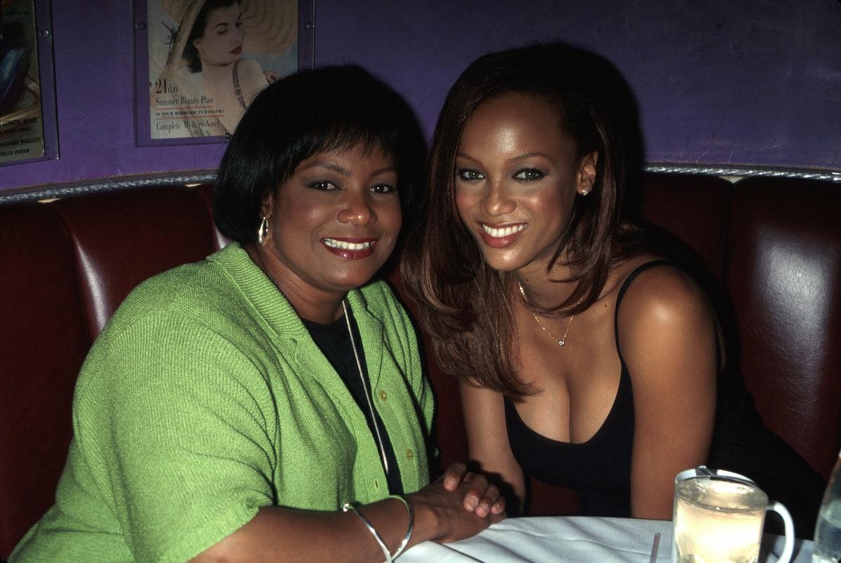 Tyra Banks with her mom