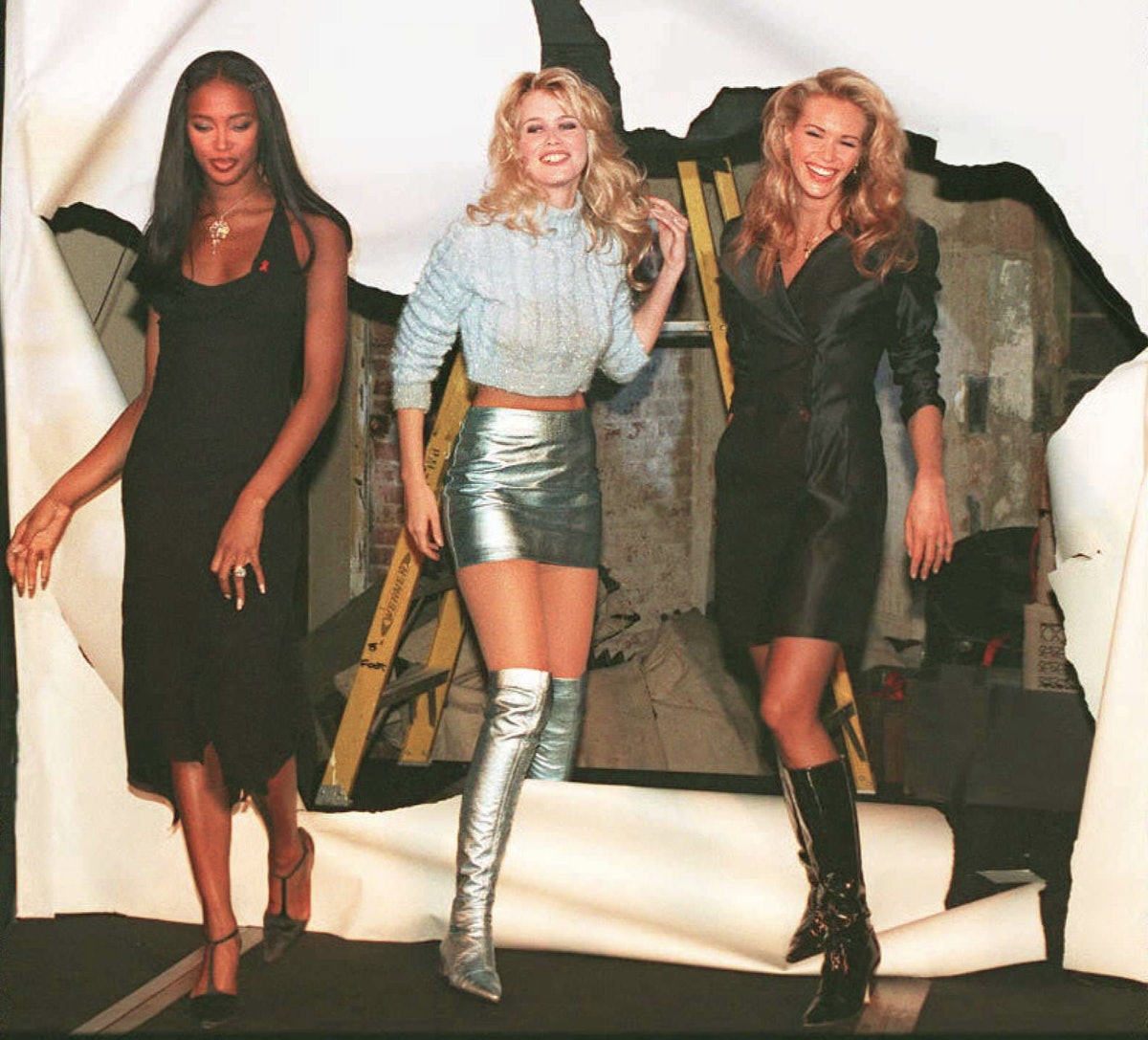 Naomi Campbell, Claudia Schiffer and Elle Macpherson