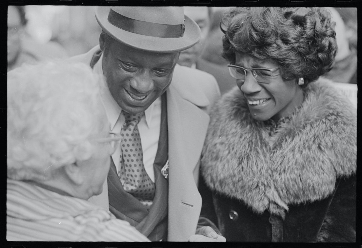 Shirley Chisholm With Supporters