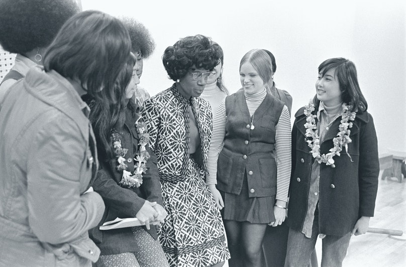 College Students With Shirley Chisolm