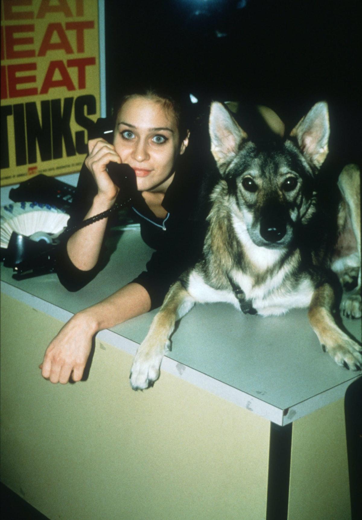Fiona Apple and a cute dog