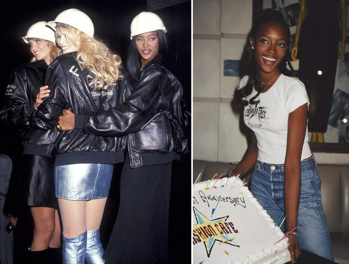 Elle MacPherson, Claudia Schiffer, and Naomi Campbell