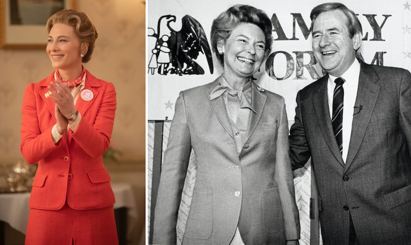 Cate Blanchett and Phyllis Schlafly with her husband Fred