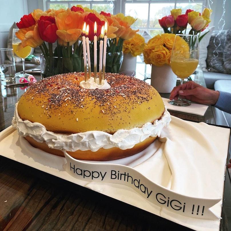 Gigi Hadid's bagel-shaped birthday cake