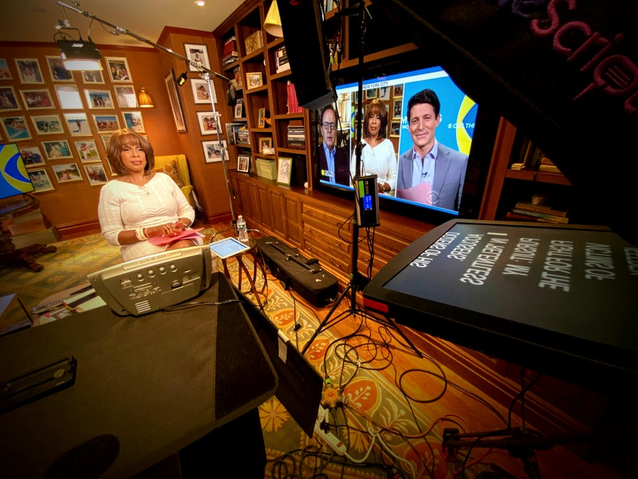 gayle king recording from home