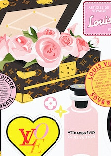 Collage of LV graphics