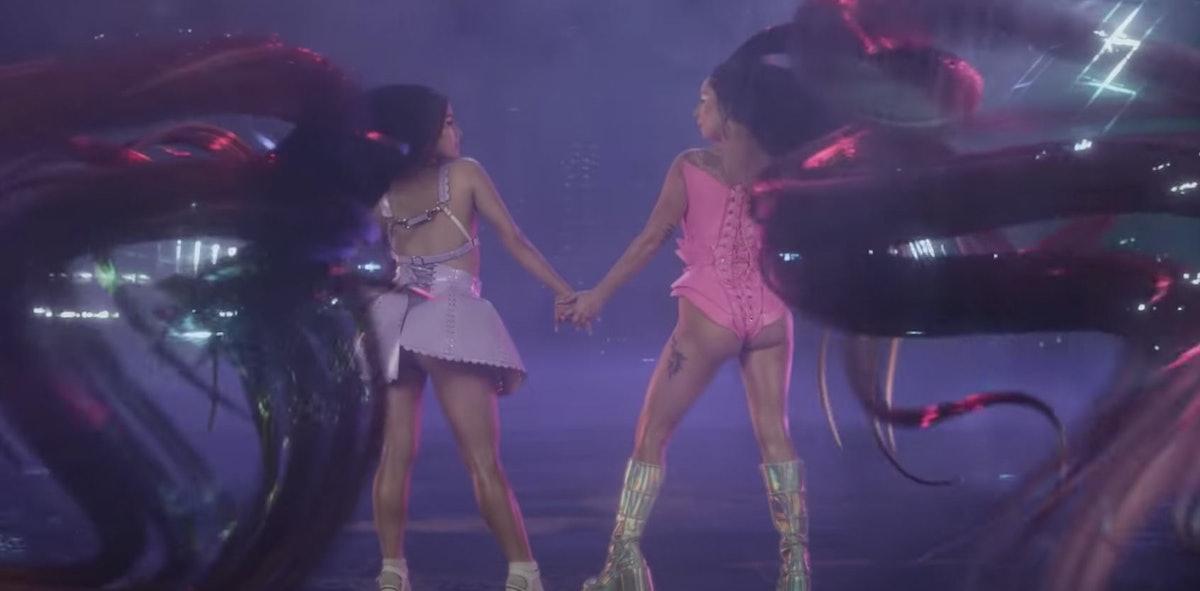 Lady Gaga and Ariana Grande have big hair.
