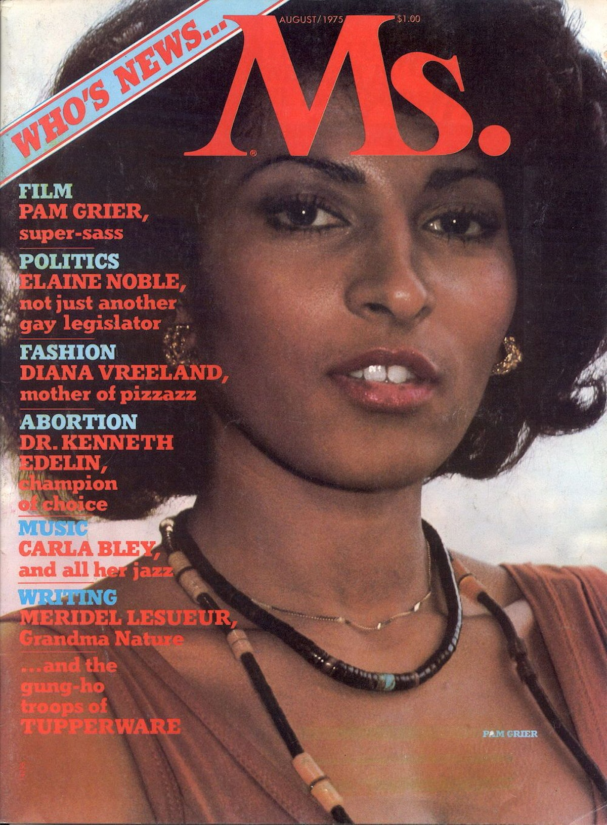 Pam Grier's Ms. magazine cover