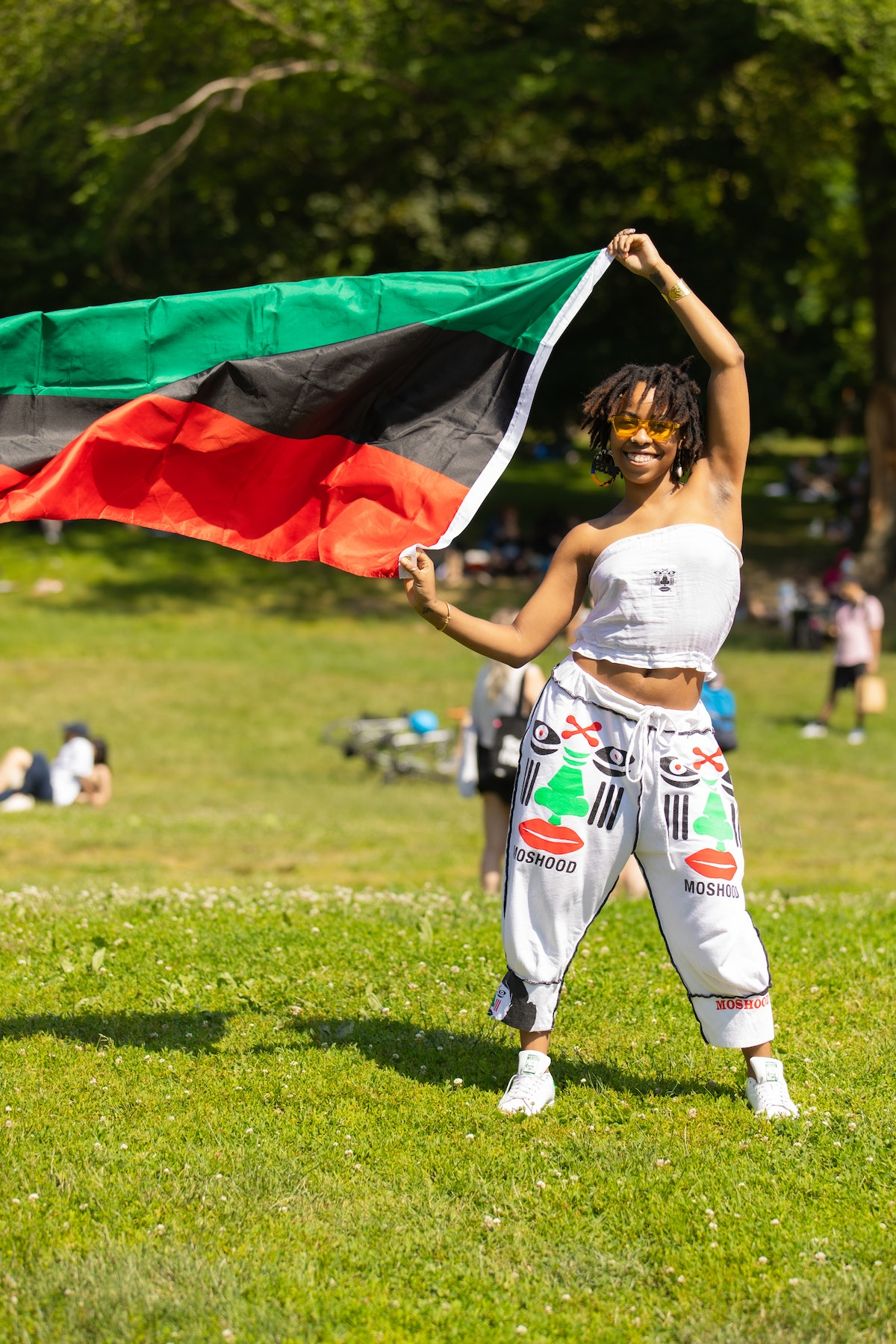 A person celebrating Juneteenth