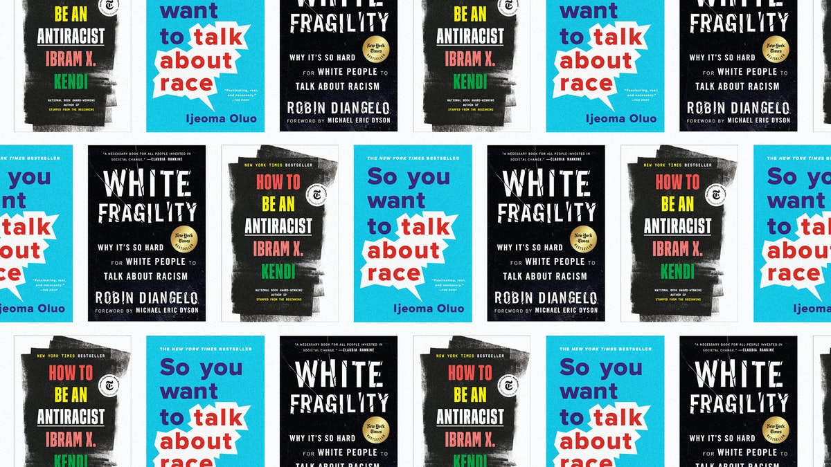 Collage of Anti-Racism Books
