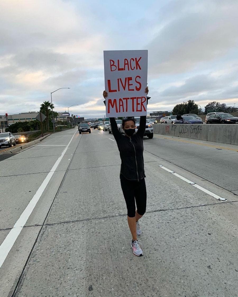 Tinashe protesting