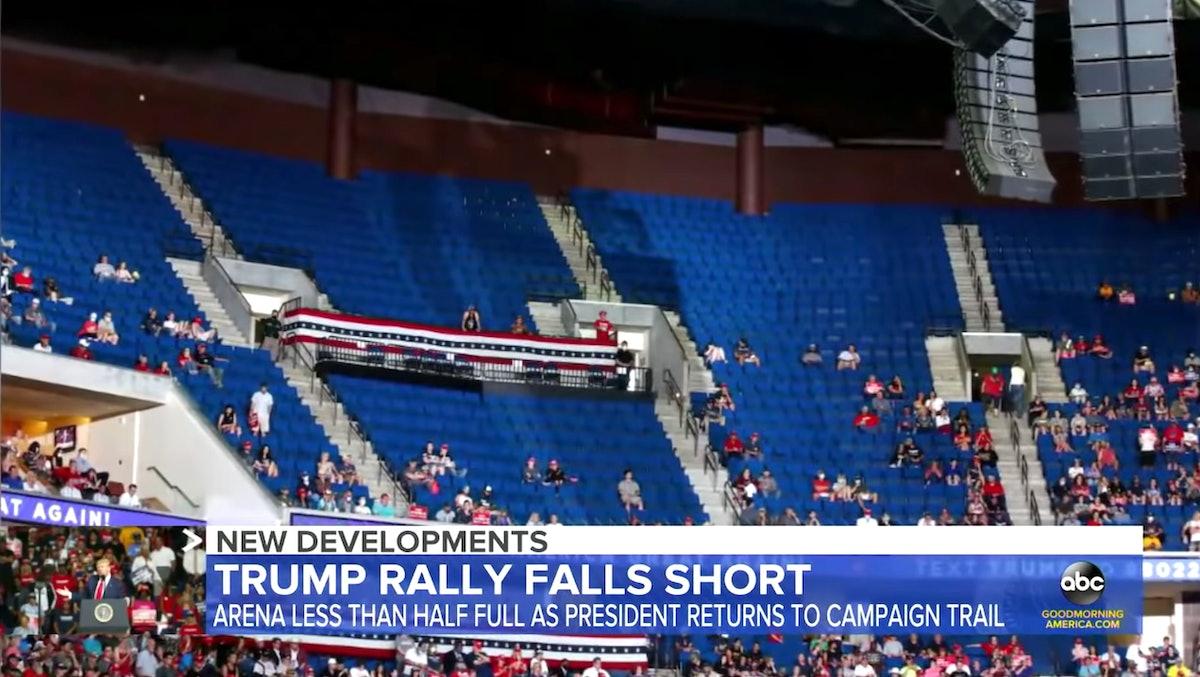 The scene at Trump's Tulsa rally