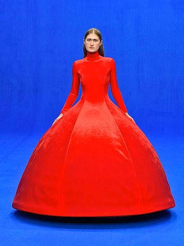 A Balenciaga model