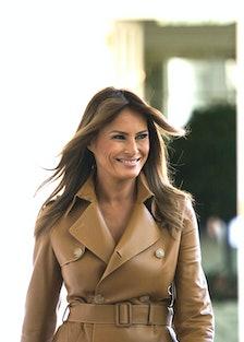 Melania Trump grinning