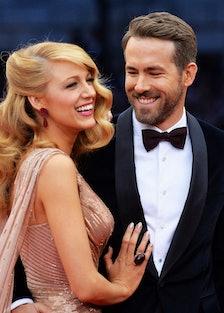 Blake Lively and Ryan Reynolds cheesing