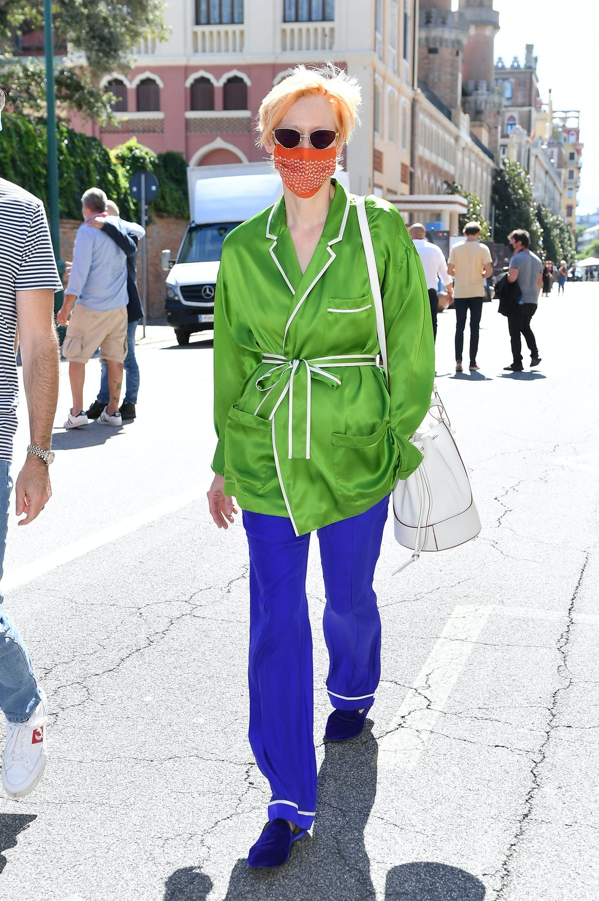 Tilda Swinton out and about in Venice