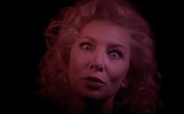 Cate Blanchett looking intense