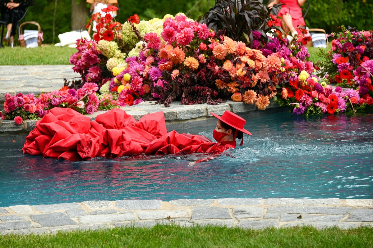 Coco Rocha in a pool