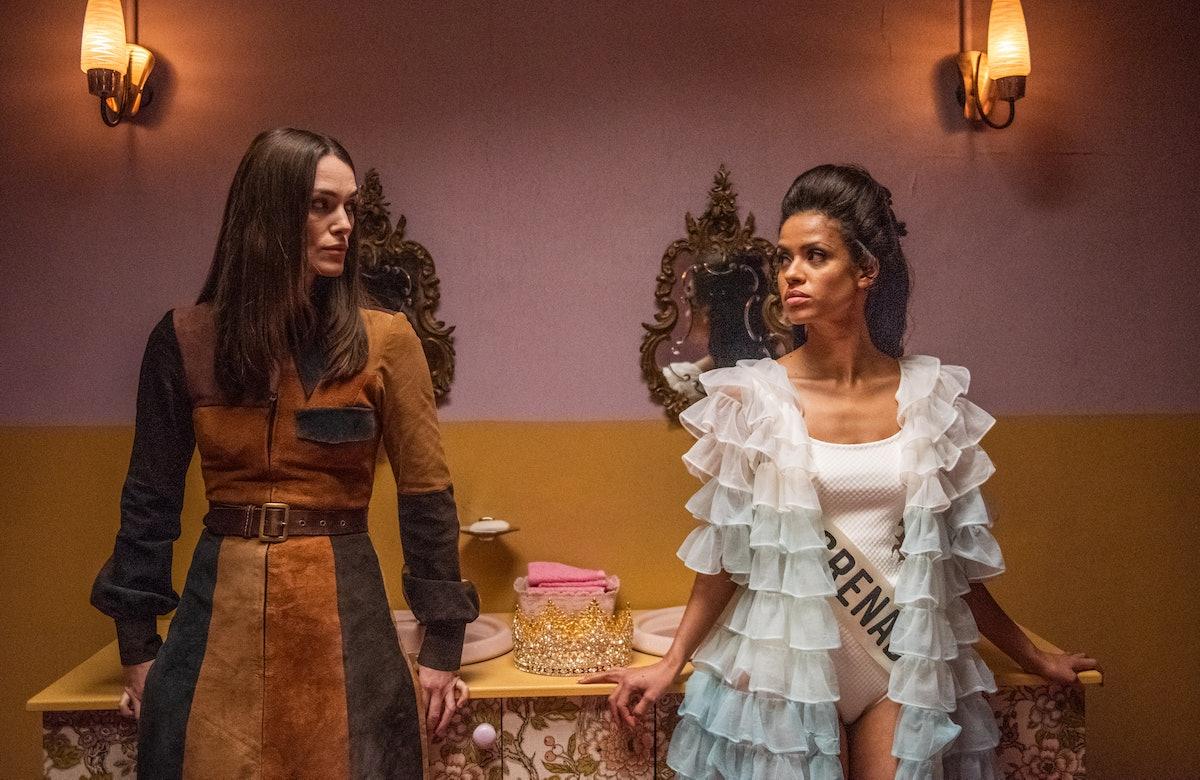"Keira Knightley and Gugu Mbatha-Raw in ""Misbehaviour."""